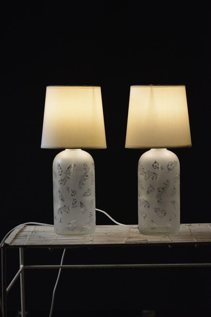 Lampy szklane z kloszami jasnymi